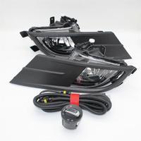 For VW Vento 2015 2016 2017 2018 Car Styling New Front Bumper Fog Light Fog Lamp + Wire + Switch+Fog Light Grille Cover Kit