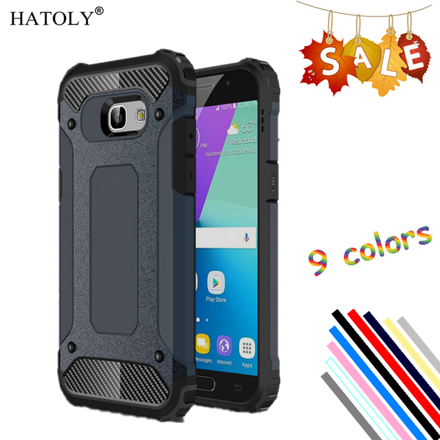 HATOLY sFor Cover Samsung Galaxy A5 2017 Case Silicone Rubber Hard Phone Cover For Galaxy A5 2017 Case For Samsung A5 2017 Bag #