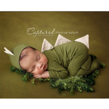 Newborn Cothes Photography Baby Dinosaur One Piece + Hat Set Studio Props Boy Photo Clothing Accessoire Bebe Girls