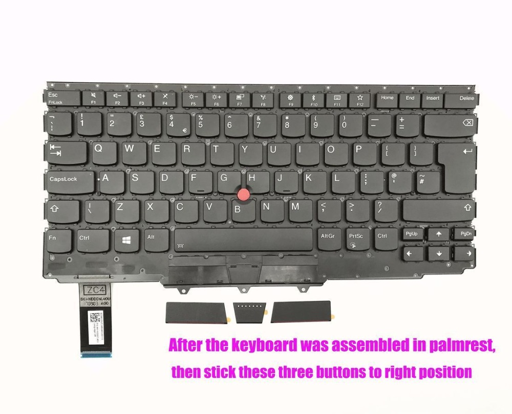 UK backlit keyboard for Lenovo ThinkPad X1 Yoga 2end Gen 20JD 20JE 20JF 20JG-in Replacement Keyboards from Computer & Office    1