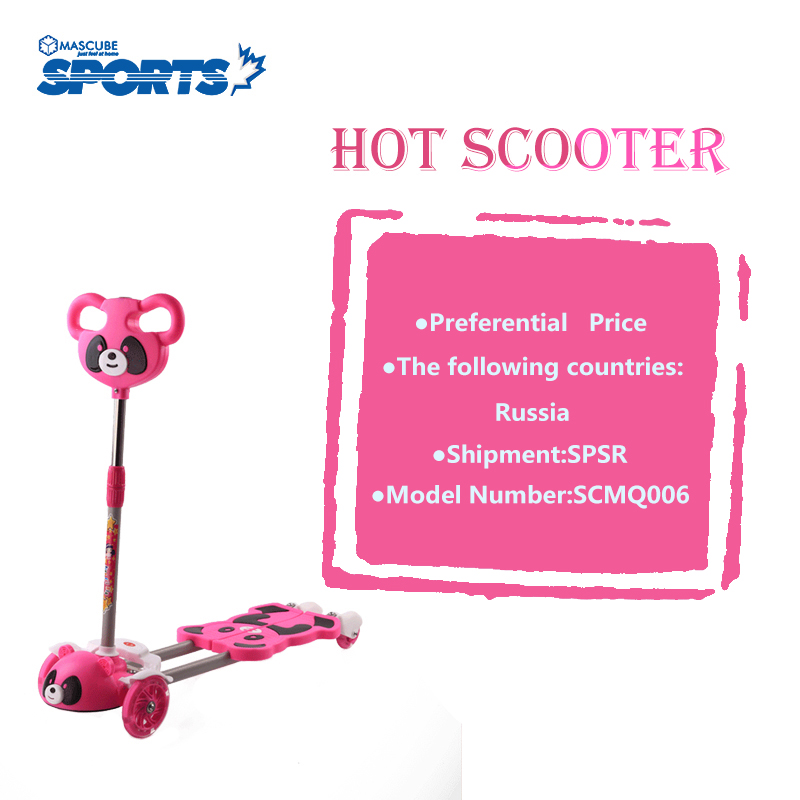 Hot Sale  Scooters Reduce  Four-wheel Flash Lifting Sideslip Light Energy Children Twisting Scooter Panda Head  Prevent Crash promax driven wheel block for gy6 150cc scooters atvs go karts moped quads 4 wheeler dune buggys