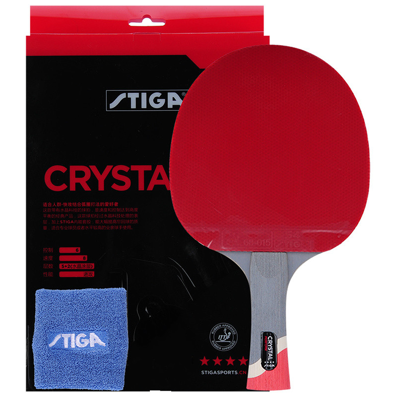 Stiga PRO CRYSTAL Quality 4 stars Table Tennis Racket Ping Pong Paddle Best  quality carbon rackets e5dc6f278