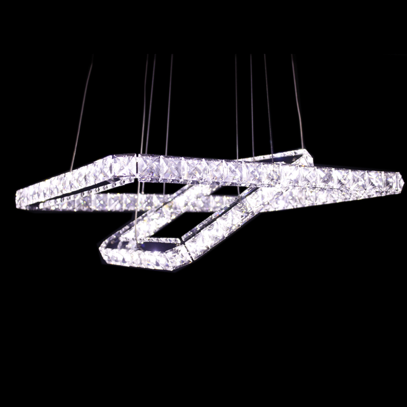 Ecolight Modern Crystal Led Pendants Lamps Ceiling Chandelier Light Fixture Hanging Lighting For Dining Bed Living Room Hanglamp
