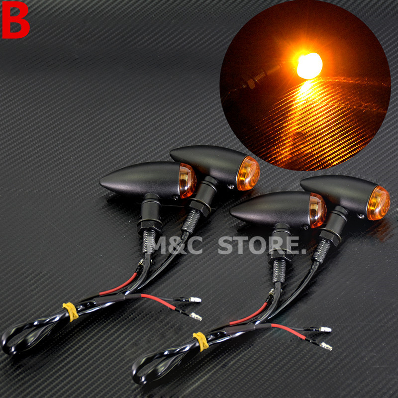 cheapest New Flashing Motorcycle LED Turn Signals Blinker For Motorcycles Indicator Flasher LED Moto Rear Brake Stop Signals Light Lamp