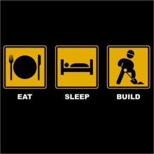 Eat Sleep Build, House Builder, Building, Construction Funny T-Shirt - up to 5XL New T Shirts Tops Tee Unisex