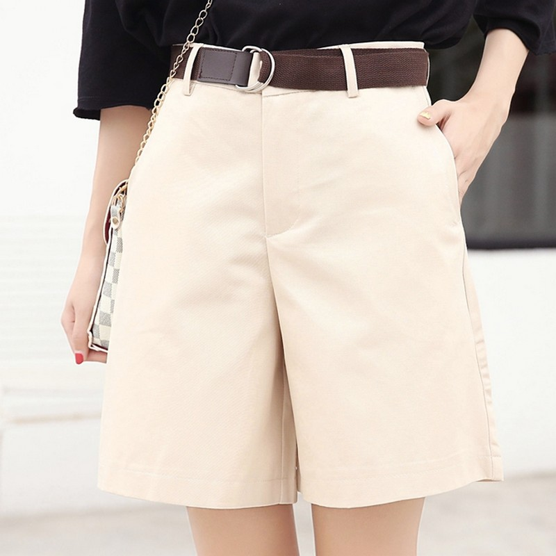 EXOTAO Summer Women Shorts Loose OL High Waist Pantalones Mujer Fashion Wide Leg Short Pants All-Match 5 Colors Cortos