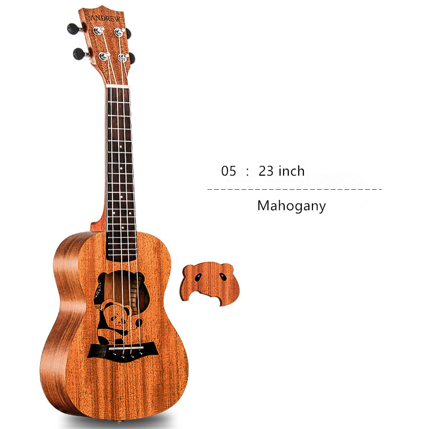Hot Ukulele 23 Acoustic Ukelele Uke 4 Strings Hawaii Guitar Guitarra U003 concert acoustic electric ukulele 23 inch high quality guitar 4 strings ukelele guitarra handcraft wood zebra plug in uke tuner