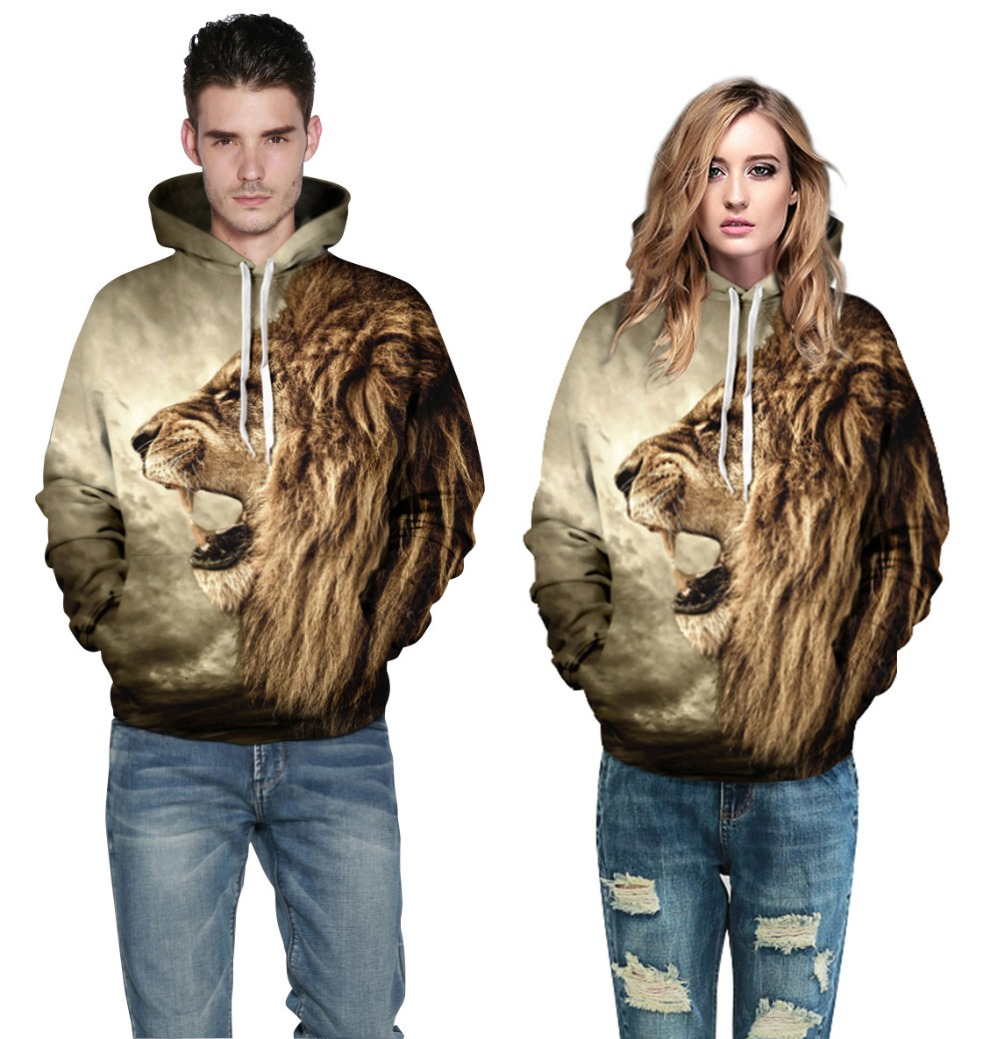 harajuku style Casual hoodies for men/women 3d sweatshirts print slim hoodies Lovers Clothing