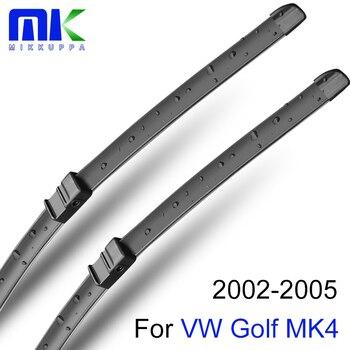 Escobilla trasera y frontal Mikkuppa y cuchillas para VW Golf MK4 2002 2003 2004 2005, parabrisas, accesorios de goma Natural para coche