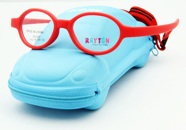 Estrenar de diseño Flexible Oval gafas para los niños de fibra de carbono accesorios niños con el caso