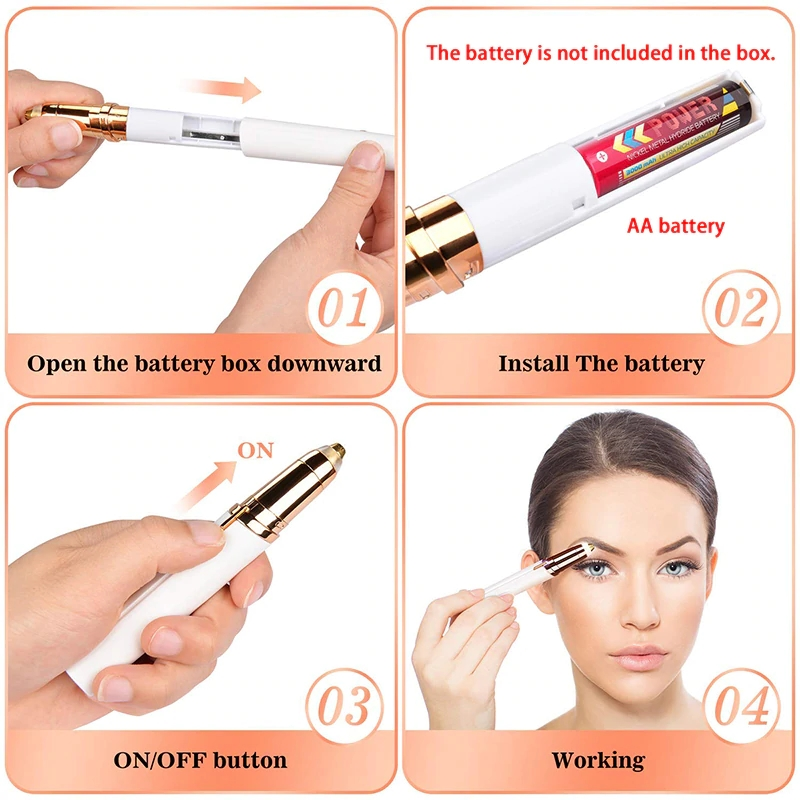 Instant Painless Electric Eyebrow Trimmer Women Shaver Eyebrow Hair Removal Epilator Brows Electric Shaver Razor Facial Shaving in Epilators from Home Appliances