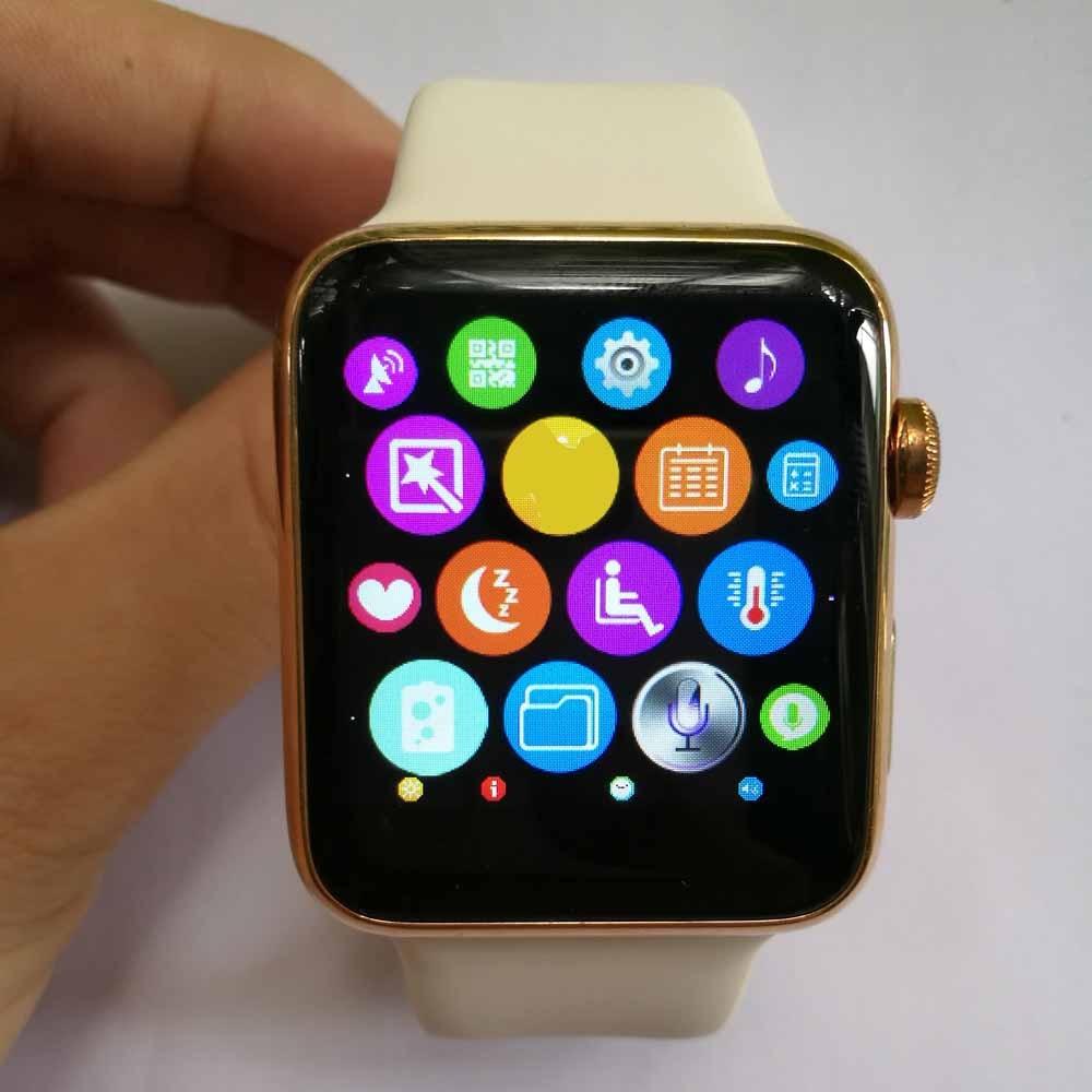 Iwo segunda generación mejorada smartwatch podómetro monitor del ritmo  cardíaco de bluetooth smart watch mtk2502c iwo 1 1 para android iphone ... 4757208d5c5