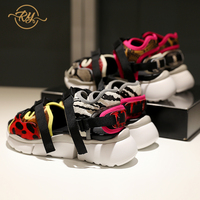 RY RELAA обувь женские сандалии на платформе на плоской толстой платформе Европейская и американская мода женская обувь из натуральной кожи ins