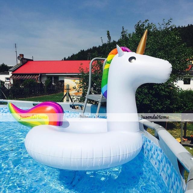2 Ukuran Unicorn Raksasa Tiup Mengambang Cincin Berenang Lingkaran
