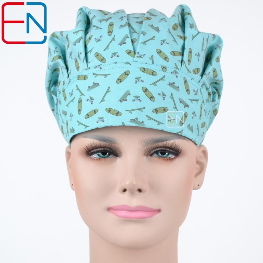 Medical Bouffant Caps One Size Adjustable Cook Cap,chef Caps,scrub Caps 100% Cotton