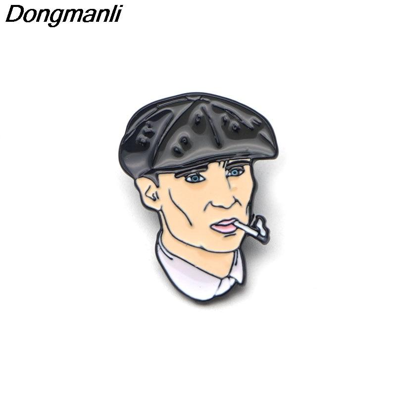 M1821 Dongmanli Peaky Blinders Enamel Pin cartoon Brooch badges for Clothing metal pins Personality character brooch