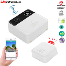 USAFEQLO 720 P HD Drahtlose WIFI Türklingel Batterie Tür Kamera Zwei-wege Audio Intercom IP Tür Glocke Home Security APP control(China)