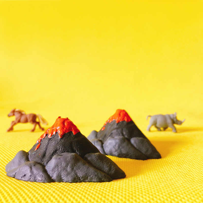 New~Escape~volcano/miniatures/fairy garden gnome/home terrarium decor/crafts/statue/diy supplies/toy/model