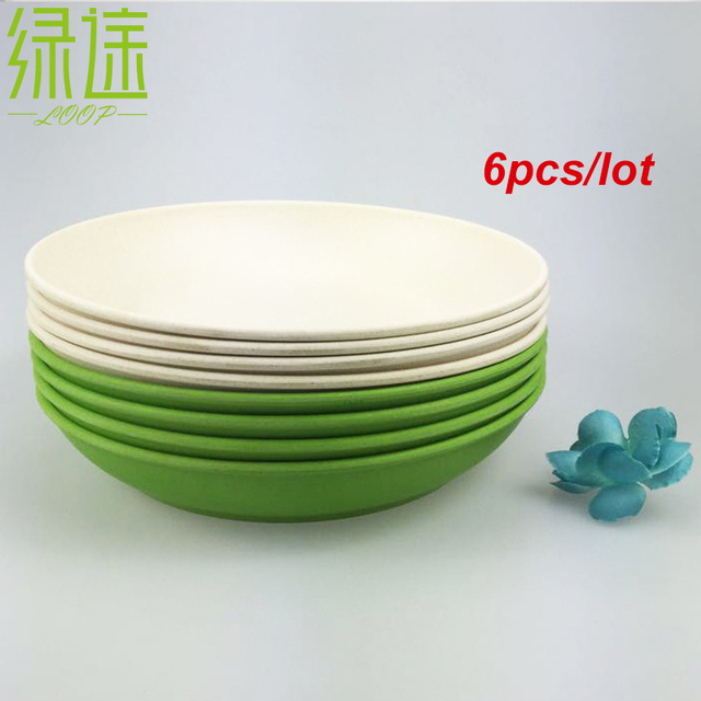 6PCS Deep dishes dinner plate new design deep bowls bamboo fiber dishes cake white blue plates  sc 1 st  AliExpress.com & 6PCS Deep dishes dinner plate new design deep bowls bamboo fiber ...