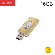 Hot ! New fashion High speed Lightning Mobile cell phone Usb flash disk pendrive OTG Android Pen drive Usb memory stick USB2.0