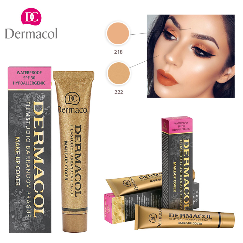 Dropshipping Base Dermacol Make Up Cover Dermacol Concealer Cream for Face Eyes 30g Contouring Corrector makeup base color corrector contour cream concealer palette