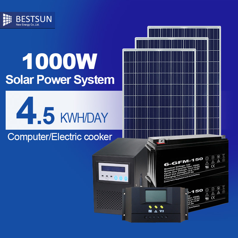 Solar panel 1000w portable off grid solar power system for - Panneau solaire 1000w ...