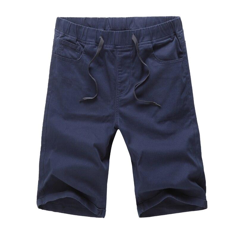 Casual Shorts Elastic Big-Size Summer Fashion New Male 42 44-46-48 Slim-Fit Men