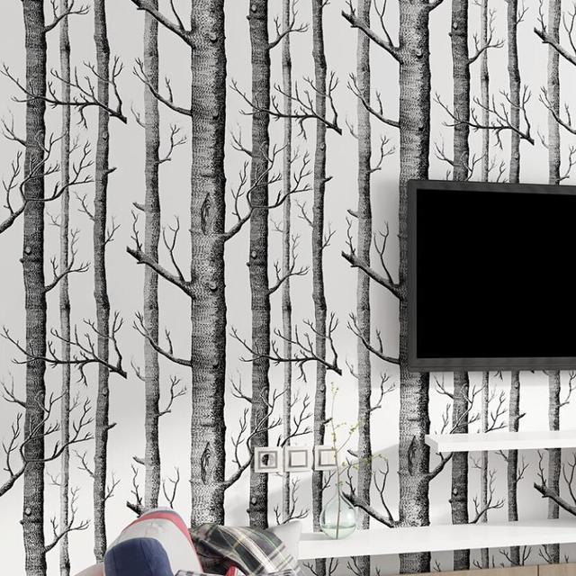 Tree Wallpaper Murals Living Room Tv