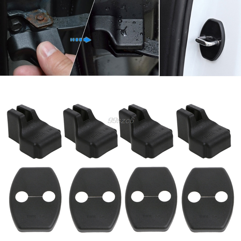 Door Lock Protective Cover For VW Jetta Tiguan Passat Golf POLO CC Car Door Lock Cover Stopper Protection Auto Interior Parts