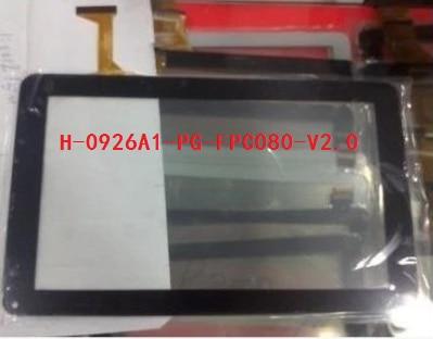 Новый оригинальный 9 дюймов таблетка многоточечной емкостной сенсорный экран H-0926A1-PG-FPC080-V2.0 бесплатная доставка