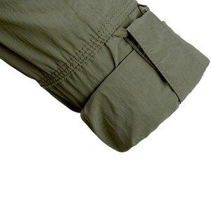 Image 5 - MEGE Brand Clothing, Summer Men Long Sleeve Shirt, Breathable Quick Dry Cargo Shirt, Camisa Social Masculina, Mens Dress Shirts