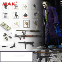 1/6 Scale Figure Scenes Accessory Joker Clown Accessories Bag Gun Knife Grenade Poker Model for 12 inches Action Figure