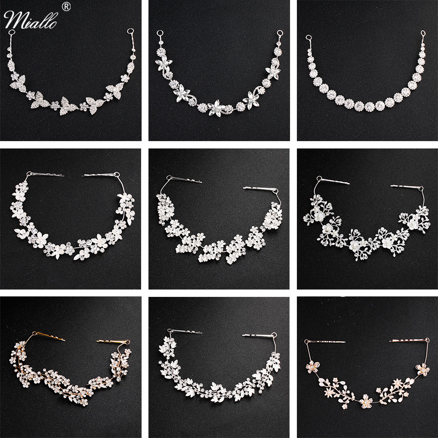 Miallo Classic Crystal <font><b>Wedding</b></font> <font><b>Hair</b></font> Vine Bridal <font><b>Hair</b></font> Jewelry <font><b>Accessories</b></font> <font><b>Headpieces</b></font> Women Headbands Princess Tiaras and Crowns image