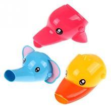 Bonito Animal fregadero grifo niño Extender lavado para niños lavado a mano baño extensión para grifo de agua de cocina