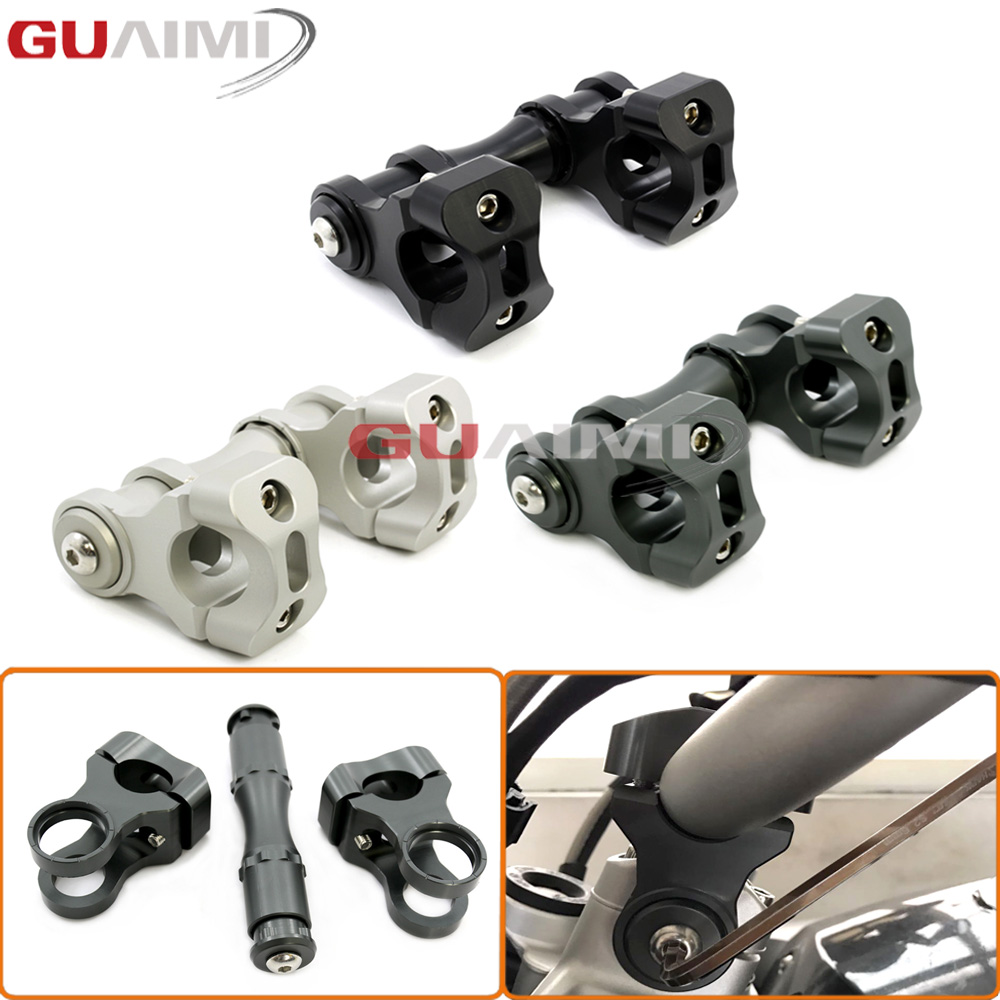 For BMW R1200GS LC 2013-2017 R1200 GS LC Adventure 2014 2015 2016 2017 Motorcycle Handlebar Riser Handle Bar Clamp for bmw r1200gs motorcycle mirrors riser extension brackets adapter fit for bmw r1200gs lc r1200 gs lc adventure 2013 2016