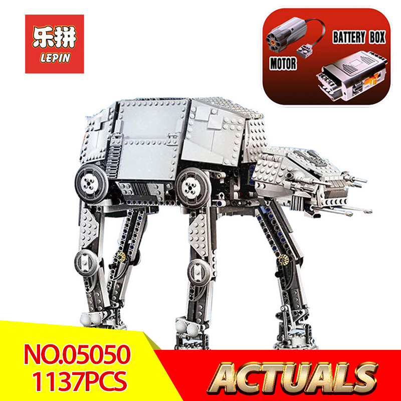 Lepin 05050 Star Wars Classic 1137pcs the robot Model Building blocks Bricks LegoINGlys 10178 Motorized Walking AT-AT Boy toys 05050 lepin star wars motorized walking at at model building blocks classic enlighten figure toys for children compatible legoe