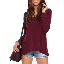 Women Casual Long Sleeves Hooded T-shirt Loose Pullover Hoodie Tops Hot