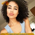Free Part Glueless Full Lace Wigs With Baby Hair Kinky Curly Brazilian Lace Front Short Human Hair Wigs For Black Women