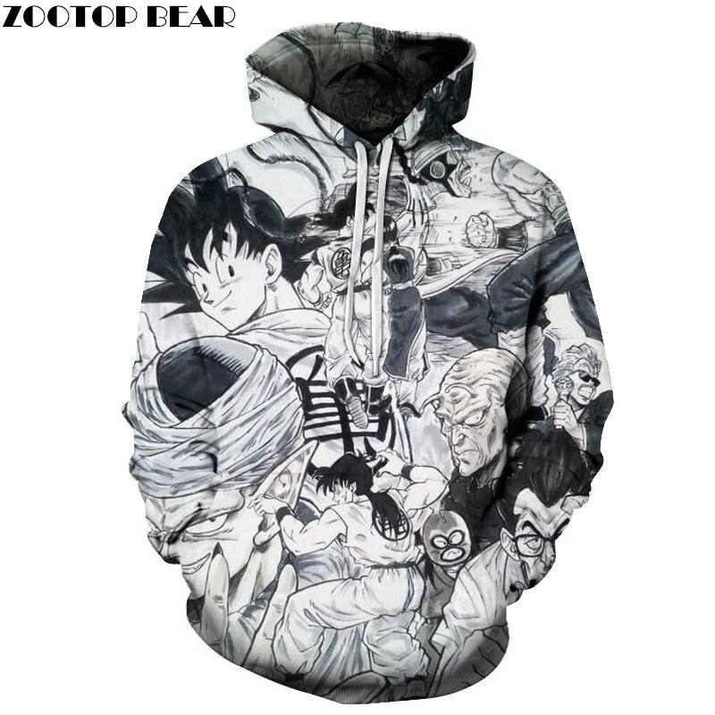 Anime Sudadera con capucha de las mujeres de los hombres sudaderas con  capucha Goku sudadera 3D chándal de la bola del dragón del jersey  Streatwear abrigo ... db33297bf90d
