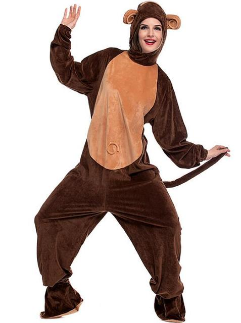 Adult Monkey Costume Cute Warm Thick Cosplay Polyester Fleece Animal Clothes Halloween Carnival  sc 1 st  AliExpress.com & Adult Monkey Costume Cute Warm Thick Cosplay Polyester Fleece Animal ...