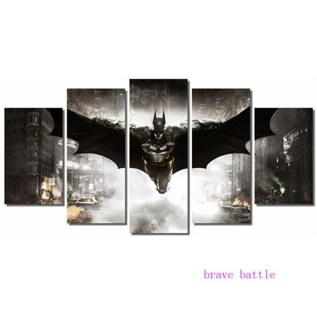 Batman DC Comics Super Hero Công Lý Giải Đấu 5 Cái Vải Painting In Phòng Khách Trang Trí Nhà Tường Modern Art Oil sơn