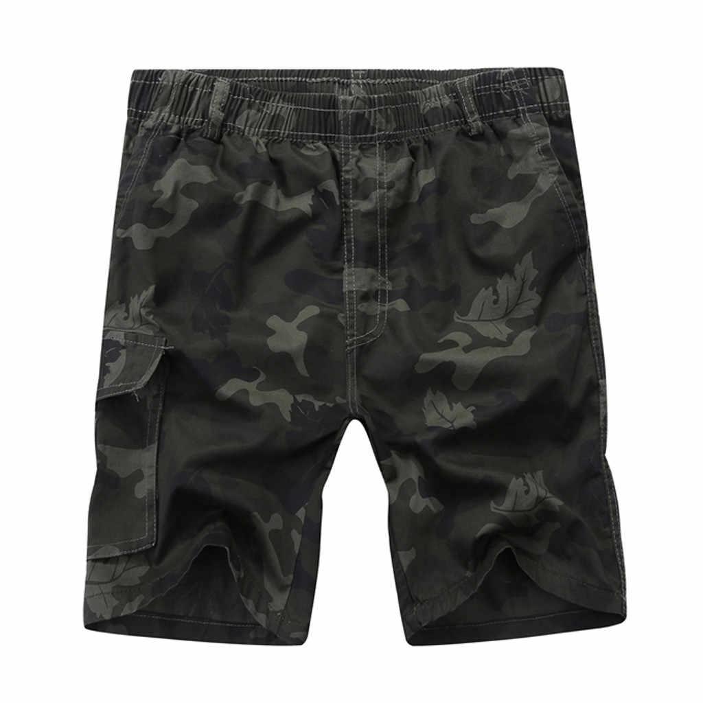 2019 Zomer Nieuwe Hot Koop Nieuwe Korte Broek mannen Katoenen Camouflage Militaire Shorts Mannelijke Cargo Camo Shorts Big Size baggy jeans