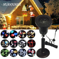 Waterproof Outdoor LED Stage Lights 12 Patterns Holiday Christmas Snowflake Projector Lamp Home Garden Lawn Decoration