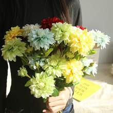 Beautiful Dahlia Real-Looking Flower Artificial Flowers Small bouquet Home Party Spring Wedding Decoration Fake