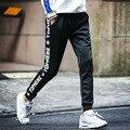 Homens corredores hip hop lápis pés calças de cintura elástica homens Skinnly Calças Lápis Homens Slim Fit Mens Calça Casual Em Linha Reta calças