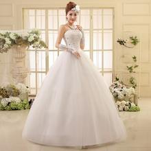 pth-HS550# factory direct wholesale cheap 2016 new large yards married bride lace Bra straps photo studio wedding dress white