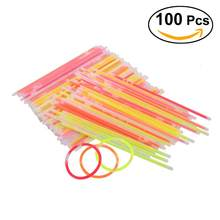 100pcs Mix Color Glow Stick Safe Light Stick Necklace Bracelets Fluorescent for Event Festive Party Supplies Concert Decor(China)