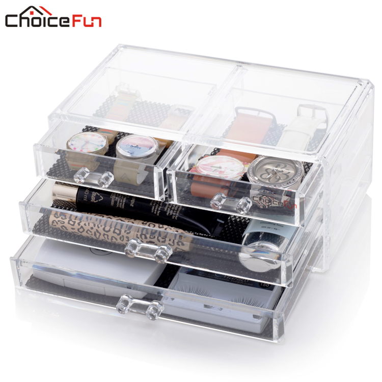 Cosmetic-Box Makeup-Drawer-Storage Jewelry Acrylic FUN SF-1005-2 CHOICE New-Arrival
