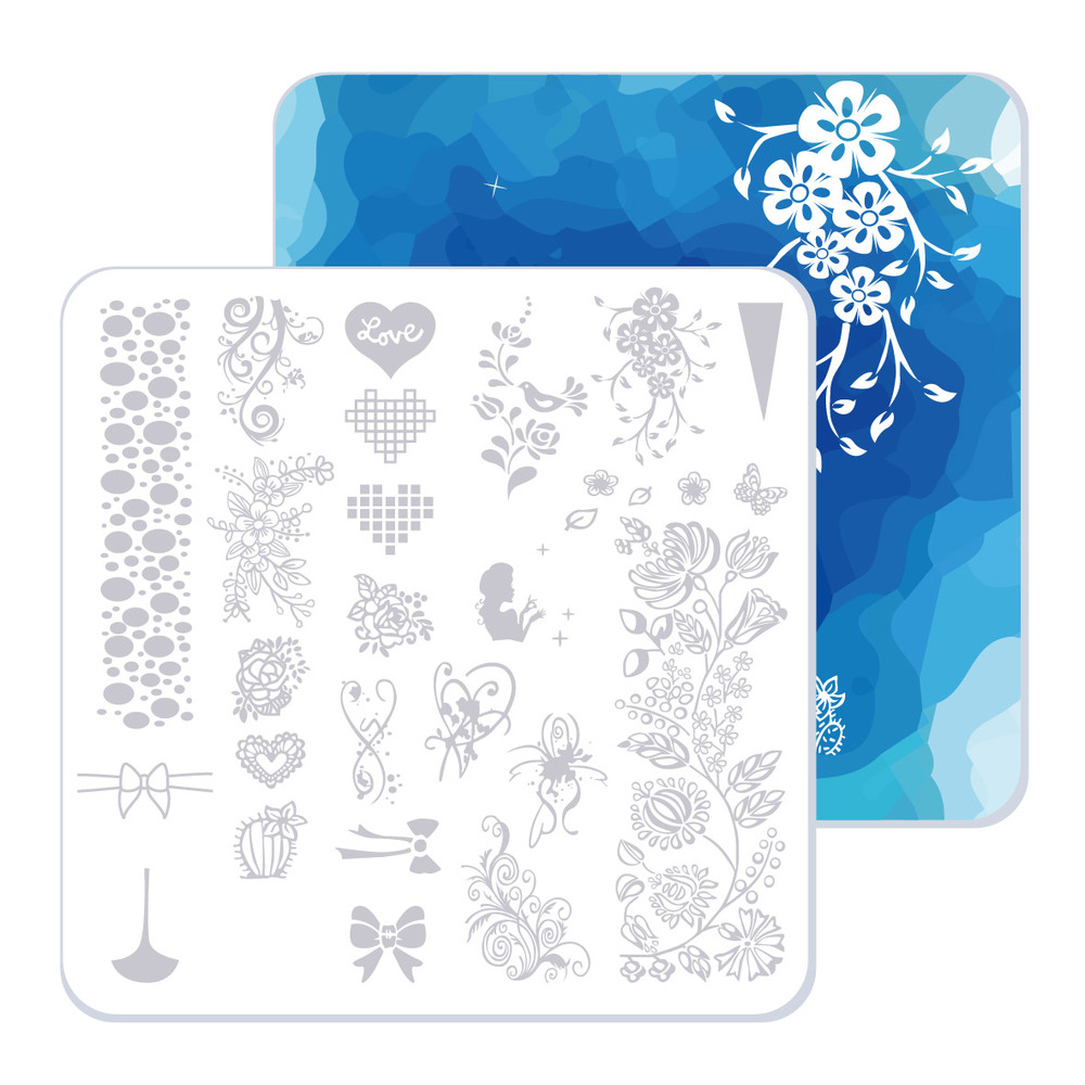 40 Slots Pink Nail Art Stamping Plate Holder Large Size Water proof ...