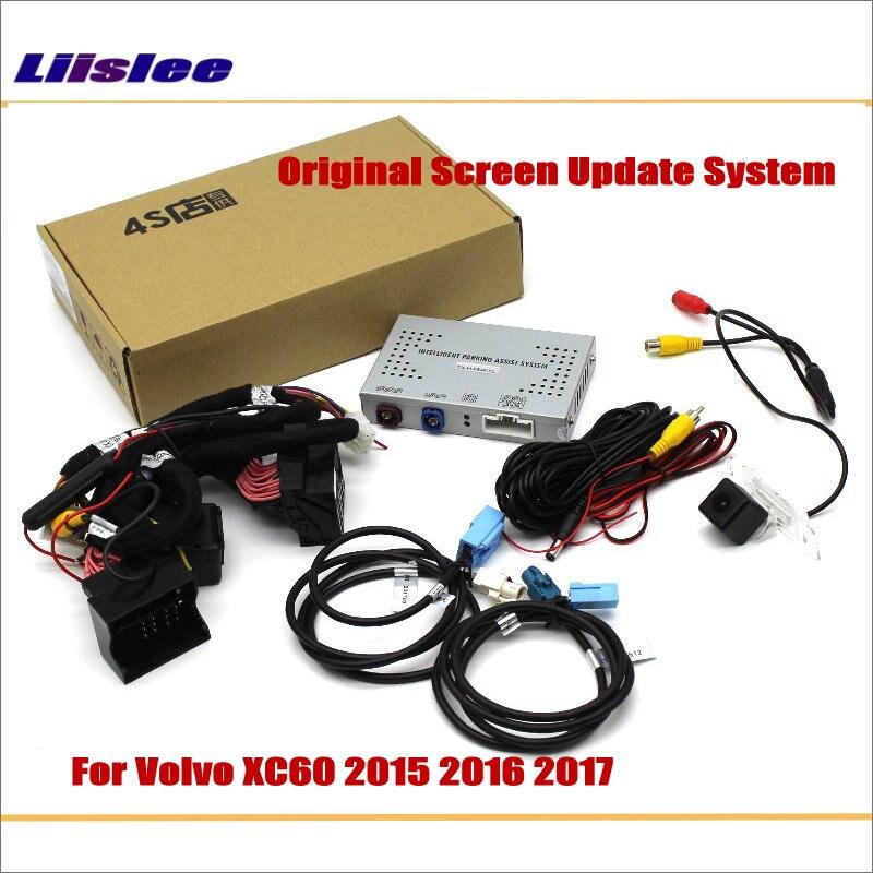 Liislee For Volvo XC60 2015 2017 Original Screen Update System Reversing Track Image Reverse Rear Camera